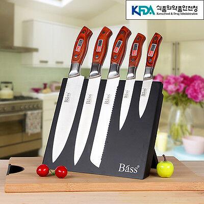 5Pcs Knife Set Kitchen Cutlery Japanese Chef Sashimi Cook Knives Magnet Block