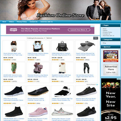 Fashion Store - Ready Made Affiliate Website For Sale Amazonadsensedropship