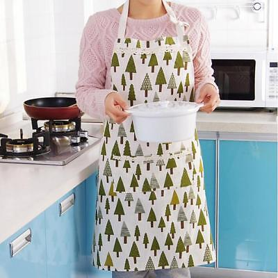 Women Vintage Style Print Apron Chef Cooking Home Kitchen Decor Christmas L