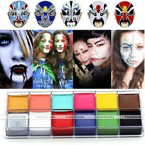 Pro-Cara-Cuerpo-Pintura-Al-oleo-Pintura-Flash-Color-Partido-componen-guia-Rainbow-Kit-Set