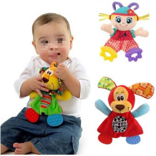 Baby Infant Rattles Plush Animal Stroller Music Hanging Bell