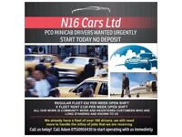 PCO MINICAB DRIVERS WANTED URGENTLY START TODAY £0 DEPOSIT