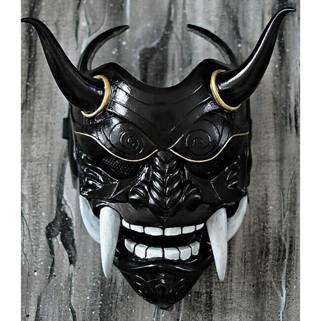 Halloween Japanese Hannya Demon Oni Samurai Noh Kabuki Prajna Devil  Mask Hot