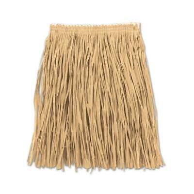 Hawaiian Long Grass Skirt Luau Hula Dancer Beach Party Festival Adjusts To Fit