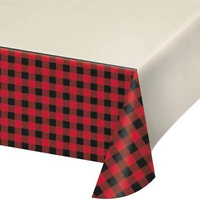 Buffalo Plaid Plastic Banquet Tablecloth Fall Christmas Party Decorations
