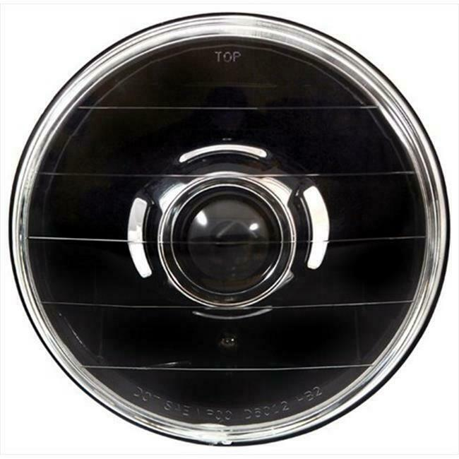 IPCW CWC-7008D Conversion Headlight 7 In. Round Diamond-Cut Projector Headlig...