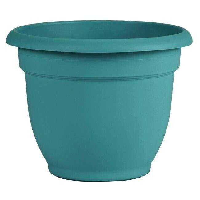"Self Watering Planter 16"" Bermuda Teal Green, helps to store reserved water"