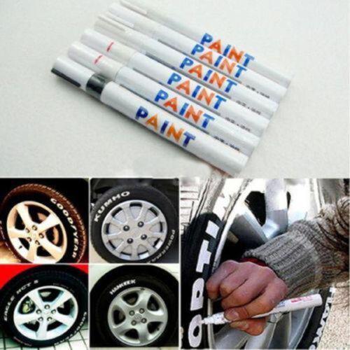 3+1 Universale Impermeabile Permanente Paint Marker Penna Auto Pneumatici Bobine