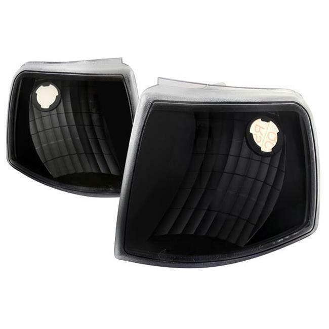 Spec D Tuning LC-RAN93JM-RS Black Corner Lights for 1993-1997 Ford Ranger