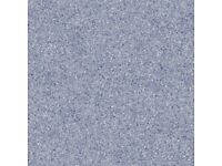 New off-cut of Vinyl Flooring size 42 inches x 48 inches. Shades of blue, marble effect.