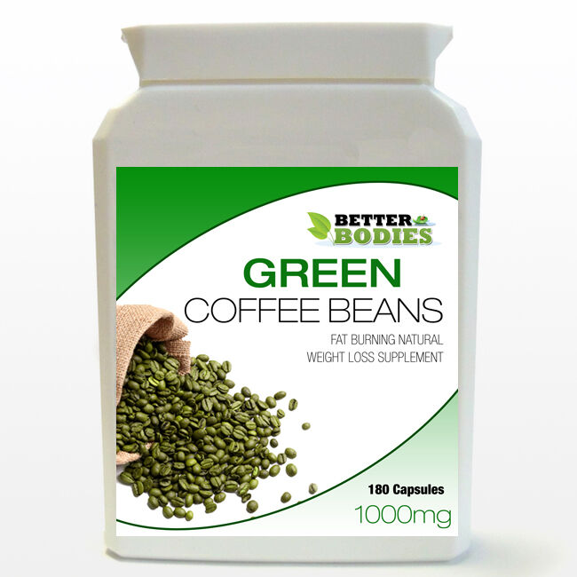1000mg Pure Green Coffee Bean Extract Capsules Bottle Diet Weight