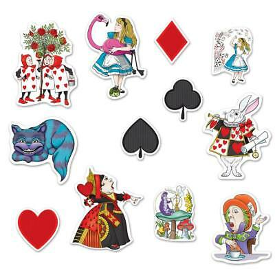 Alice In Wonderland Cutouts (Alice In Wonderland Cutouts Birthday Party)