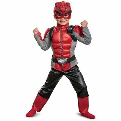 Verkleidung Power Rangers Biest Morpher Rot Muskel Kleinkind Halloween Kostüm