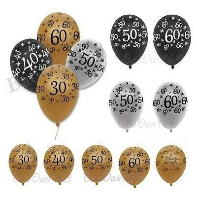 10PCS 12inch Number Latex Balloons 30th 40th 50th Happy Birthday Party Supplies](30th Party Balloons)