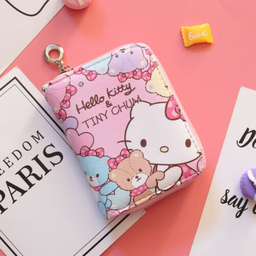 Hello kitty wallet purse pink lovely gift present cards Japan hand bag