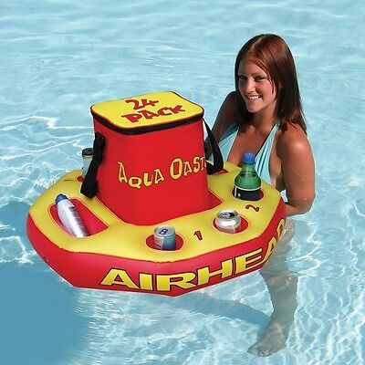 Aqua Oasis Floating Beach Pool Jacuzzi Watersports Drinks Inflatable Cooler -