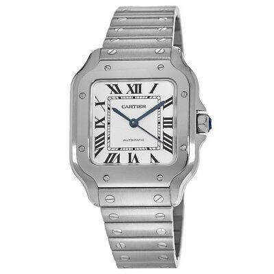 New Cartier Santos Automatic Silver Dial Steel Unisex Watch WSSA0010