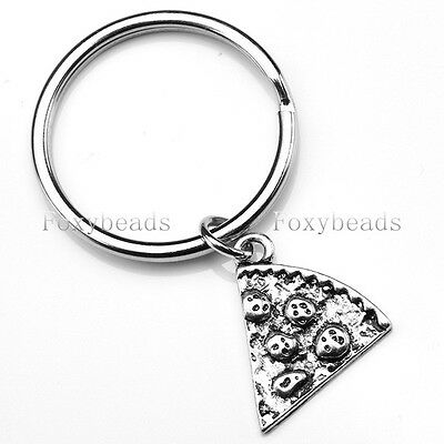 1X Slice Pizza Keychains Personalised Keyrings Best Friend Friendship Lover