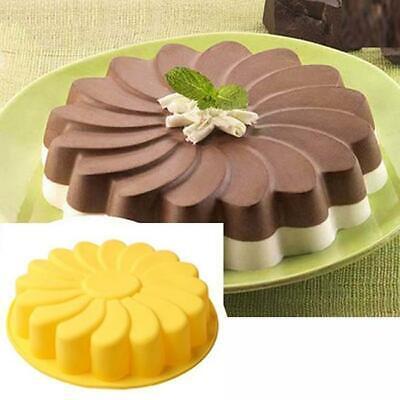 Birthday Party Cake Silicone Mold Pan Sunflower Bread Pie Flan Tart Bakeware BL3