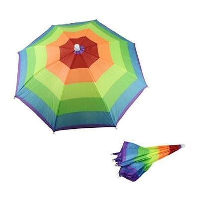 Elastisches Stirnband Regenbogen Pattern Sonne Regen Regenschirm-Hut-Kappe ON ()