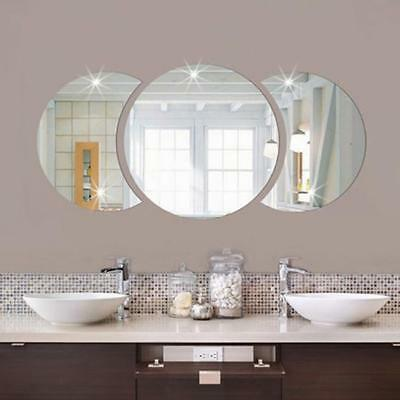Round Mirror Wall Decal Sticker Large Vinyl Photo Picture Frame Removable Shan