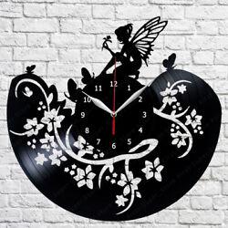 Fairy Vinyl Record Wall Clock 12'' (30cm) Home Fan Art Decor 307