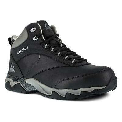 "Reebok mens 6"" Beamer Composite Toe Waterproof work Boots non-metallic leather"