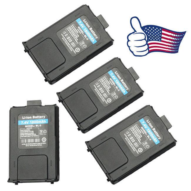 4Pack Orig. 1800mAh Battery for Baofeng UV-5R UV-5R Plus 5RA Two-way Radio USA