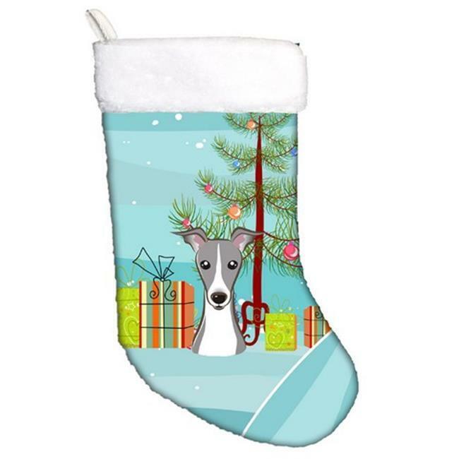 Carolines Treasures BB1608CS Christmas Tree & Italian Greyhound Christmas Sto...