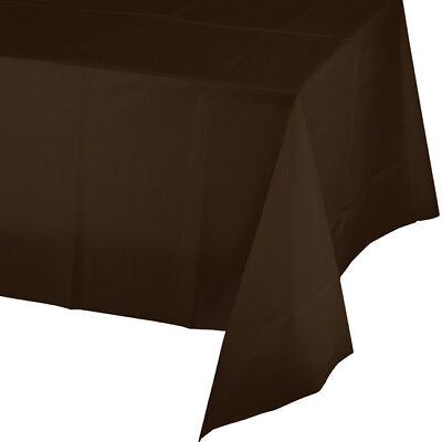 Brown Plastic Tablecloth (Brown 2/Ply Paper-Poly Banquet Tablecloth 54