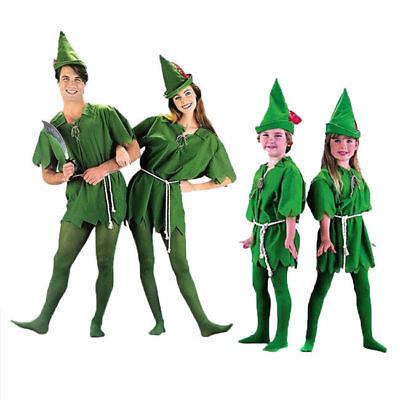 Peter Pan Halloween Costume For Adults (Saint Patrick's Day Peter Pan Green Elf Adults/Kids Halloween Cosplay)