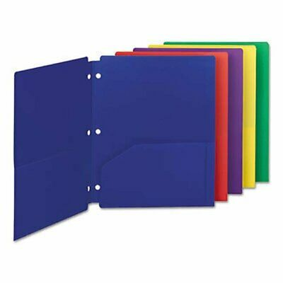 Smead Manufacturing Smd87939 Poly Snap-in 2-pocket Letter Folder Assorted - P...