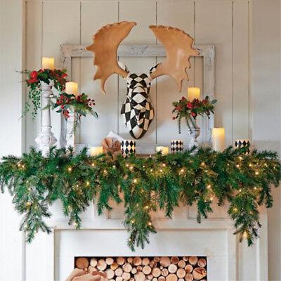 Christmas Decorations 6' Cascading Garland Decorative Mantel Piece Holiday - Christmas Garland Decorations