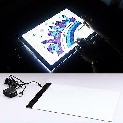 A4 LED Licht Tafel Leuchttisch Leuchttablett Leuchtplatte Leuchtpult Tattoo Pad