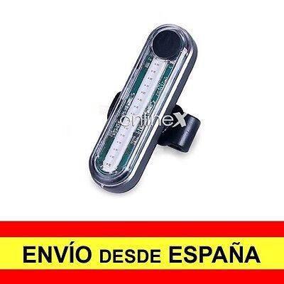 Luz Roja Trasera Bicicleta Recargable USB 6 Modos Iluminación Ciclismo a2756