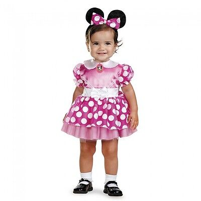 Girls Minnie Mouse Costume Fancy Dress Pink Disney Child Infant 12-18 Month - 18 Month Minnie Mouse Costume