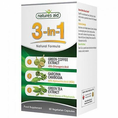 Natures Aid 3-in-1 Normal Formula with Green Coffee (Svetol ) 60 Vcaps