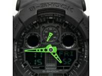 Casio G-shock Ga100 Green neon. Brand new.