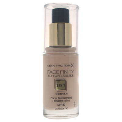 Facefinity All Day Flawless 3 In 1 Foundation 40 Light Ivory by Max Factor- 30ml