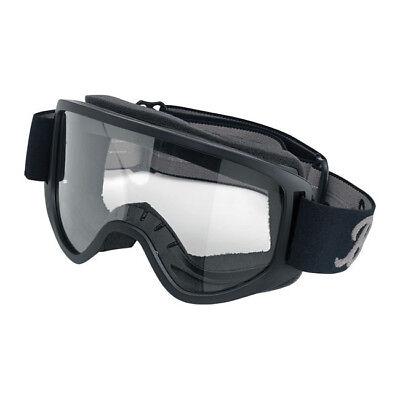 Biltwell Moto Goggle 2.0, Motorradbrille, Schwarz, für Jethelme / Antibeschlag!