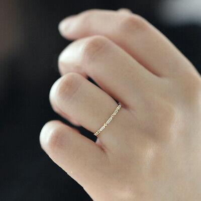 Fashion Round AAA Zircon Heart 14K Gold Dainty Ring Women Wedding Jewelry Gifts