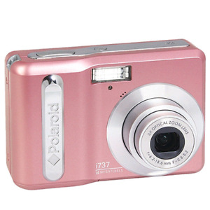 Polaroid i737 7.0 MP Pink Digital Camera with case.