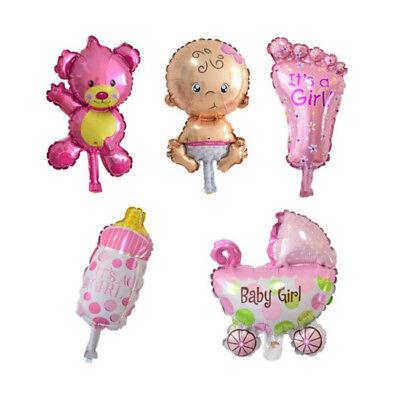 Baby Ballon Folienballon Geburtstag Geburt Dekoration 5-Teilig - Boy Girl