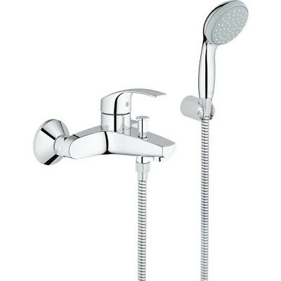 Grohe Eurosmart Bath Mixer Shower Tap Hose Handset Single Lever Chrome (Grohe Eurosmart Single Lever Bath Shower Mixer)