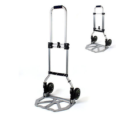 New Folding Hand Cart Alluminum Truck Dolly Load Carrier Material Tighten Strap