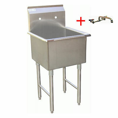 Ace Ss 24x24 Prep. Sink W 10 Spout Faucet Etl Sh24241p Aa-710