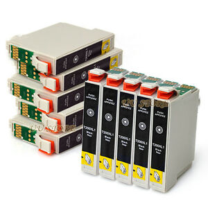 10x t200xl ink cartridges black only for epson wf 2510 wf. Black Bedroom Furniture Sets. Home Design Ideas