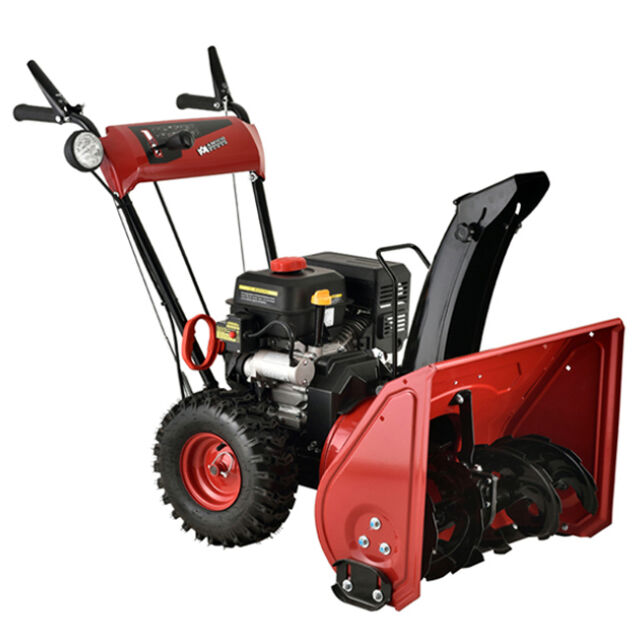 22 inch 212cc 2 stage manual start gas snow thrower