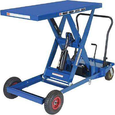 New Pneumatic Tire Hydraulic Elevating Cart 1000 Lb. Capacity