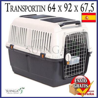 TRANSPORTIN PERRO GRANDE L VIAJE ANIMALES DOG PET TRANSPORTADOR 64x92x67,5 CM